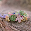 succulent wedding floral crown