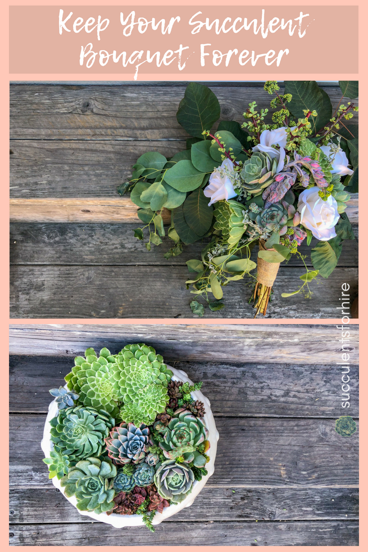 succulent wedding bouquet 3