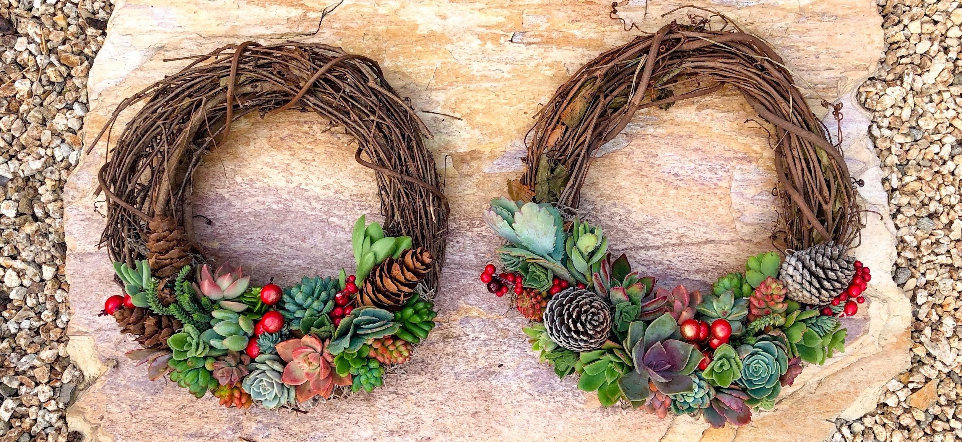 succulent wreath holiday wreath