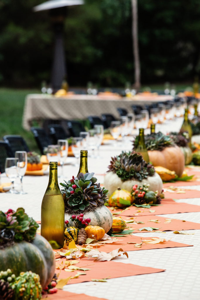 Fall wedding succulent wedding sustainable wedding