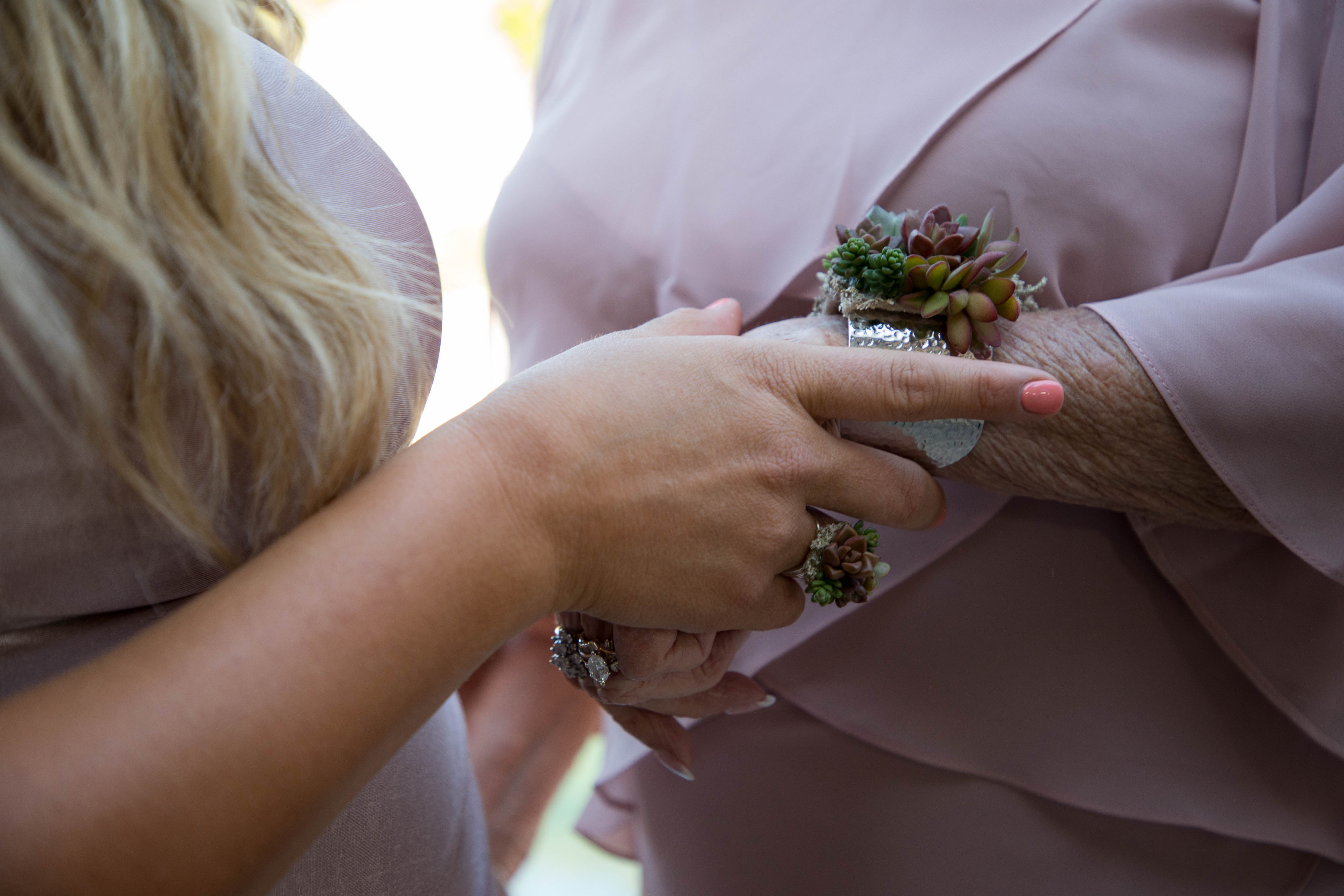 succulent ring and corsage