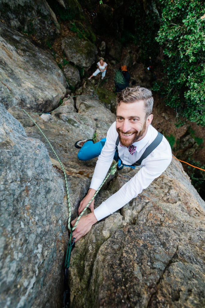 climbing wedding, adventure elopement, berkeley climbing
