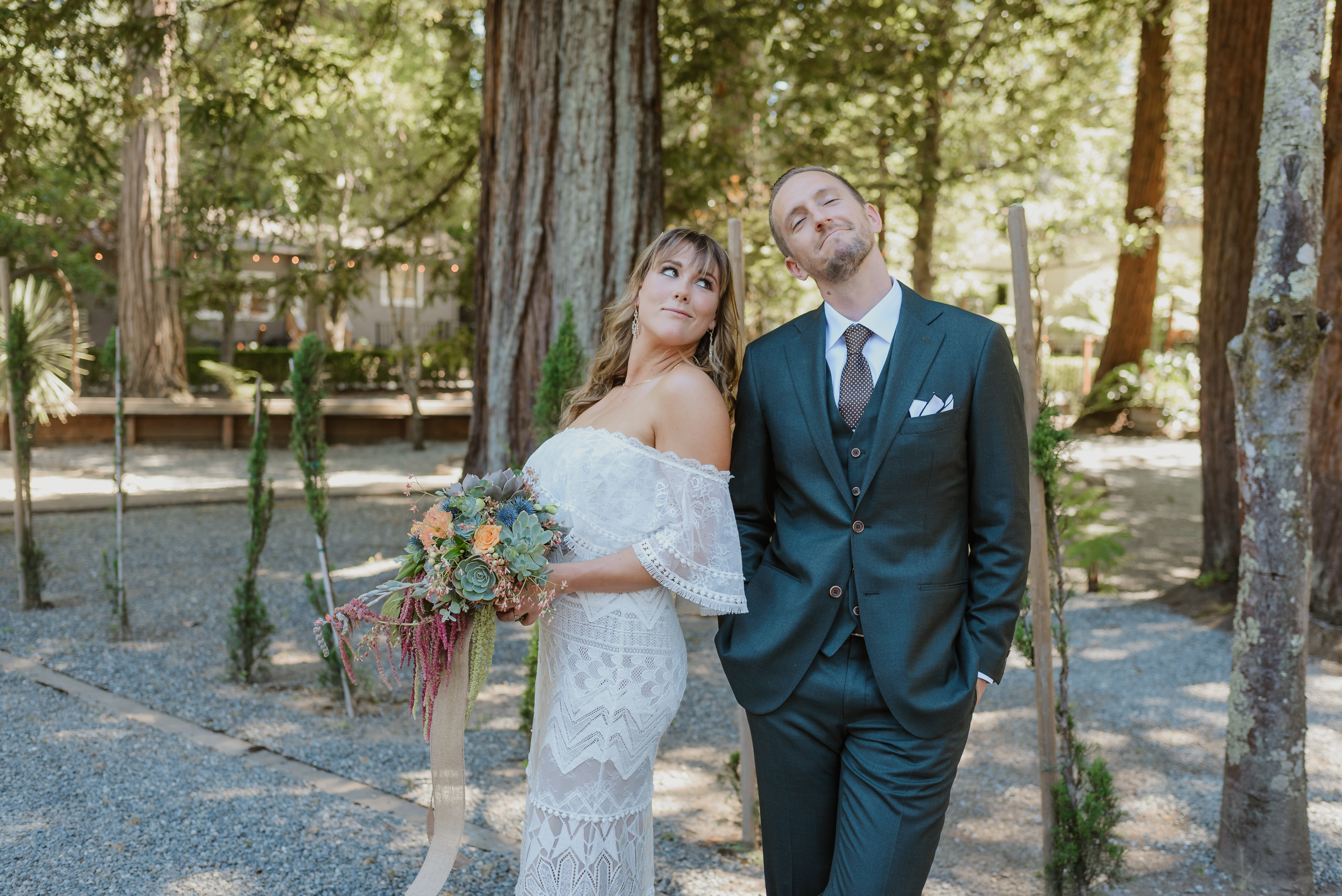 book 2020 weddings with succulents for hire, succulent wedding, eco-friendly wedding, sustainable wedding redwood wedding at Deer Park Villa in Fairfax, CA