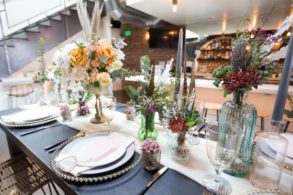 tablescape succulent wedding flowers by Succulents for Hire